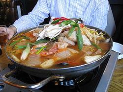 개고기 전골 韓国料理